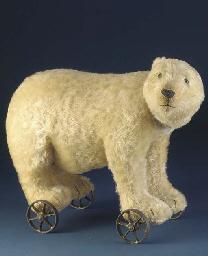 A rare Steiff Polar Bear on wh