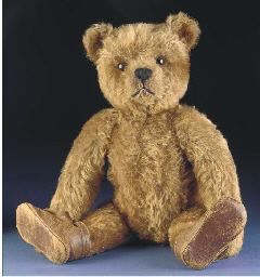 A rare Bing clockwork teddy be