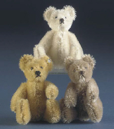 A miniature Steiff teddy bear