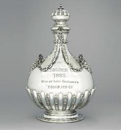 A Victorian silver massive pil