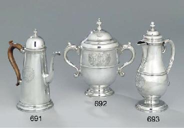 A George II silver beer-jug