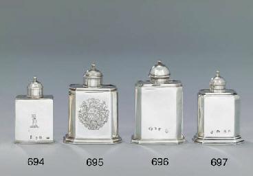 A George I silver tea-caddy