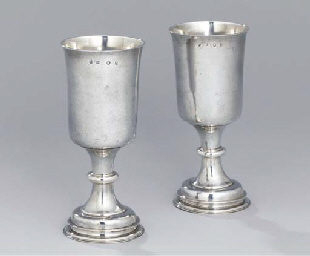 A pair of Commonwealth silver