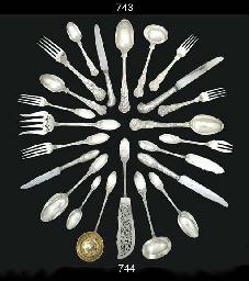 A Victorian silver table-servi