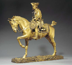 A French silver-gilt sculpture