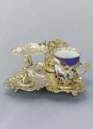 A German silver-gilt trembleus