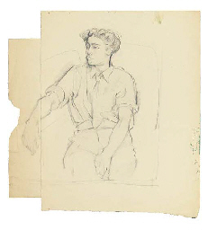 Portrait of a seated young man