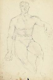 Portrait of a nude man; A knee
