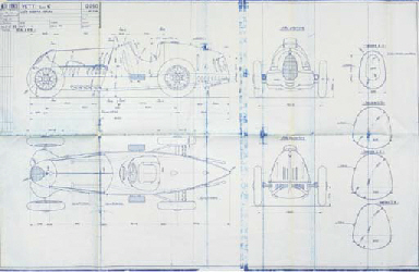 Alfa Romeo Tipo 'C' A group of ten factory blueprints for the type Tipo C Monoposto racing cars; Factory copies c1970. 	 (10)