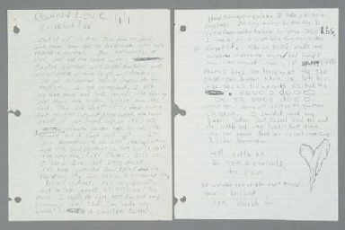 KURT COBAIN LETTER TO COURTNEY LOVE