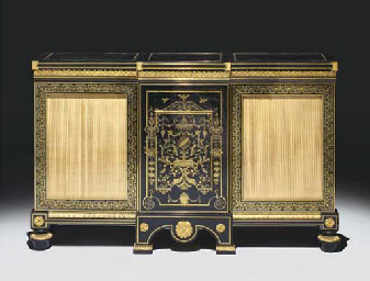 bibliotheque basse d 39 epoque louis xvi vers 1770. Black Bedroom Furniture Sets. Home Design Ideas