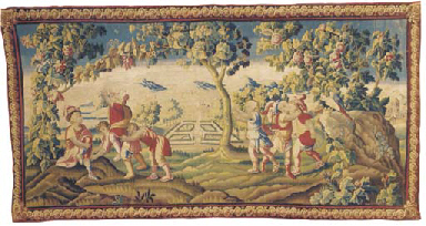 A Louis XIV Aubusson Pastoral Tapestry