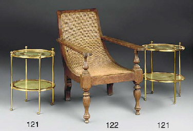 A pair of brass and gilt decor