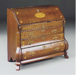 A DUTCH MAHOGANY AND INLAID BU