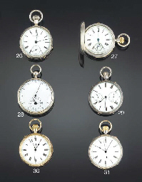 Webster. A keyless half quarter repeating lever pocket watch