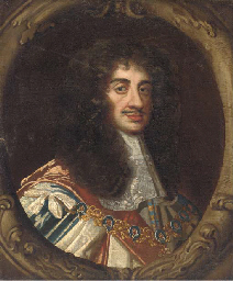 Portrait of Charles II, bust-l