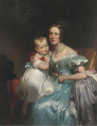 Portrait of a mother and child