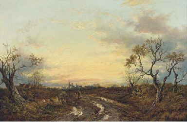 Evening, after the storm, West