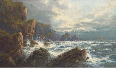 On the wild Cornish coast