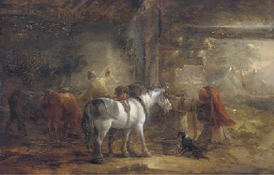In the stable yard