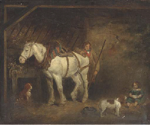 In the stable