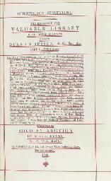 SUSSEX, Prince Augustus Frederick, Duke of (1773-1843) -- Bibliotheca...