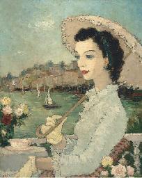 Femme avec une ombrelle