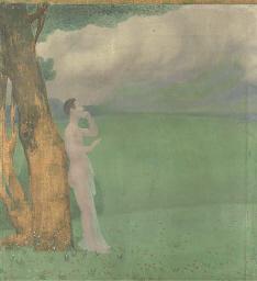 Homme debout sous un arbre