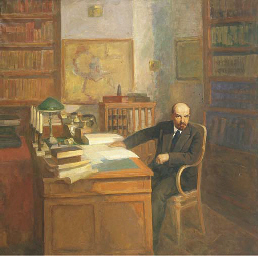 Lenin in his study