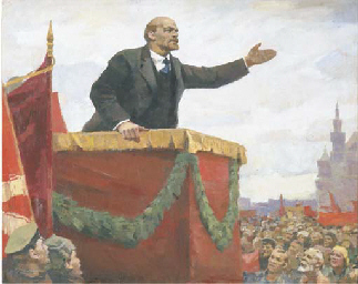 Lenin at the tribune