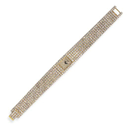 A DIAMOND WRISTWATCH, BY PIAGE