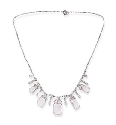 A RARE FANCY PINK DIAMOND NECKLACE