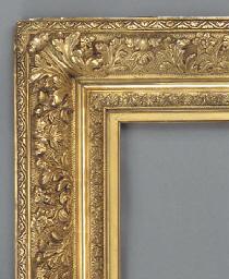 A French composite gilded fram