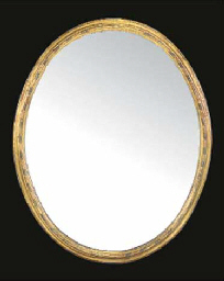 A FRENCH OVAL GILTWOOD AND GES