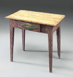 A SWEDISH PAINTED PINE TABLE