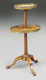 A FRENCH ORMOLU MOUNTED SATINW