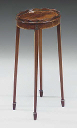 A MAHOGANY KETTLE STAND