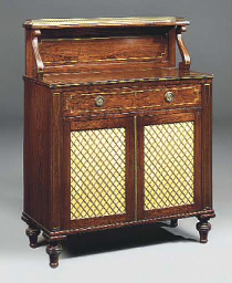 A LATE REGENCY ROSEWOOD AND BR