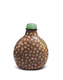 a fossiliferous limestone snuff bottle