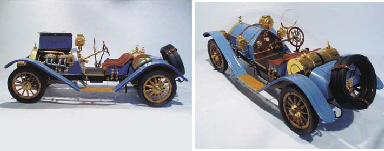 <b>mercer type 35 raceabout - 1/8th scale model.