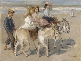 Ezeltje rijden: a donkey-ride on the beach