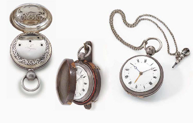 Breguet. An extremely fine and rare silver openface four train hour and...