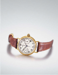 Breguet. An extremely fine and rare large 18K gold single button...