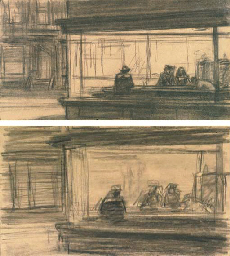 Studies for Nighthawks: A Pair