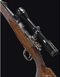 AN EXCEPTIONAL .243 MAUSER SPORTING RIFLE BY HARTMANN & WEISS, NO. 116336