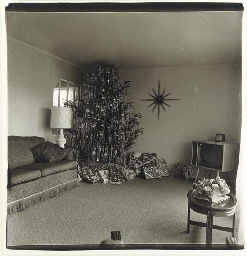Xmas Tree in a Living Room, Levittown, L. I., 1963