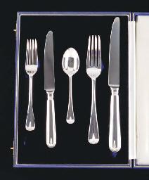 AN ELIZABETH II SILVER TABLE SERVICE