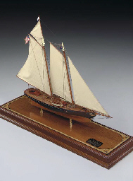 A static display model of the schooner yacht America