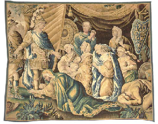 A LOUIS XIV AUBUSSON HISTORICAL TAPESTRY PANEL