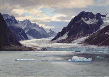 Glacial coast, Spitzbergen